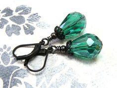 """Ohrhänger - Vintage-Ohrringe """"Loulou"""" - ein Designerstück von Gentle-Breeze bei…"""
