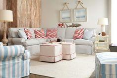 Coastal style sitting area designed by Kendall Furniture.  #kendallhomefurnishings.com