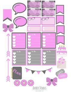 Free Purple Planner Stickers | Amber Downs