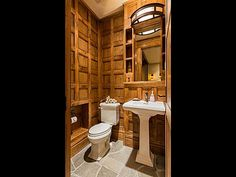 Bathroom with fine woodworking