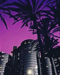 """🌴 Purple Haze 🌴 • #purple #haze #lostinthecity #cityscape #city #darkcity #skyline #neoncity…"""""""