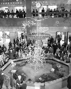 The Emett Clock, also known as The Aqua Horological Tintinnabulater, was designed and created by Rowland Emett. The Clock is shown in its original position in the Victoria Shopping Centre on 20 February 1973. Photo Credit: Nottingham Post Group Ltd.