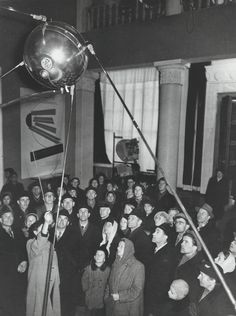A crowd gazes upon one of seven Sputniks produced by the Soviet Union Russian Culture, Space Race, Deep Forest, Street Culture, Geography, Politics, Museum, History, Concert