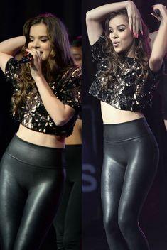 Hailee Steinfeld sexy in black