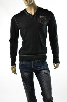 Buffalo David Bitton Sweaters Henley Knit Pullover Sweater Shirt Sz L Large NEW
