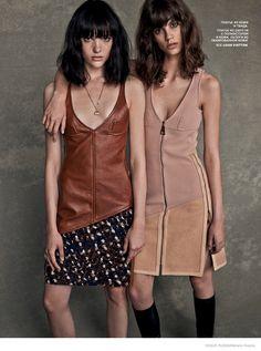 Louis Vuitton GIrls: Anya + Antonina by Mariano Vivanco for Vogue Russia