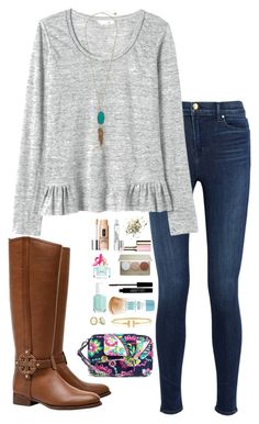 """""""Read D"""" by sc-prep-girl ❤ liked on Polyvore featuring J Brand, Rebecca Taylor, Vera Bradley, Kendra Scott, Kate Spade, Tory Burch, Topshop, Clinique, Becca and Marc Jacobs"""
