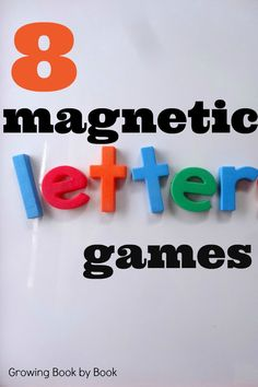 Magnetic alphabet games to help teach letter recognition and letter sounds from growingbookbybook.com