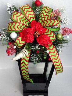 Christmas Lantern - Winter Lantern - Centerpiece - Tree Topper - Holiday Decor - Christmas Decoration - Vintage Lantern