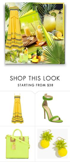 """""""Trending the Maxi Dress! - Contest!"""" by asia-12 ❤ liked on Polyvore featuring Wilton, Lisa Marie Fernandez, Gianvito Rossi, Sophie Hulme, J.Crew and Revo"""