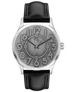Bulova Frank Lloyd Wright Exhibition Watch - Silver/Grey Dial - Leather Strap