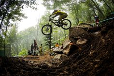 Rachel Atherton making light work of the tech on offer. Photo by Sven Martin.