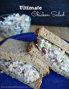 and basically thought long and hard about what I'd want in my own ultimate chicken salad. (Yep, I'm taking my chicken salad sandwich very seriously).