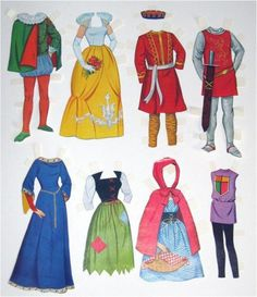 Vintage 1964 Barbie Costume Paper Dolls, these were my favorites!!