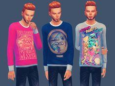 Cool Sweatshirts by doumeki at TSR via Sims 4 Updates
