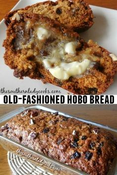 Old-Fashioned Hobo Bread - The Southern Lady Cooks recipes backen backen rezepte bread bread bread Quick Bread Recipes, Baking Recipes, Dessert Recipes, Breakfast Bread Recipes, Breakfast Muffins, Artisan Bread Recipes, Baking Tips, Healthy Desserts, Healthy Recipes