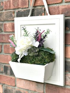 Charming Wood Flower Box Ideas For Home Decoration Custom text or site title and/or Charming Wood Flower Box Ideas For Home DecorationIn the midst of chaos and uncertainties in lif Cabinet Door Crafts, Old Cabinet Doors, Old Cabinets, Rustic Shutters, Diy Shutters, Repurposed Shutters, Farmhouse Shutters, Farmhouse Bench, Wood Flower Box