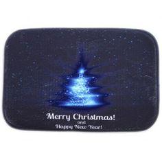 Room Decor Fleece Antislip Merry Christmas Doormat Carpet