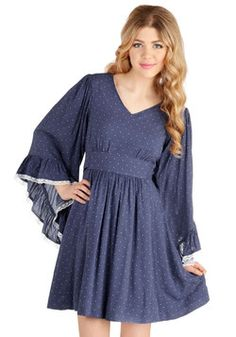 Through the Bluebells Dress, #ModCloth  Love the shape and sleeves of this dress! Not so big on the pattern..