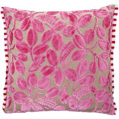 Designers Guild Calaggio Peony Cushion - 50x50cm found on Polyvore