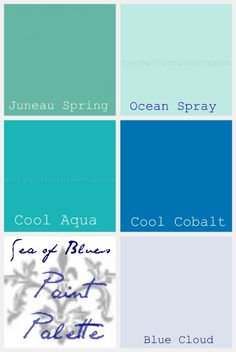 beach color paint palette
