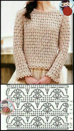 Pull Crochet, Crochet Jumper, Crochet Coat, Crochet Cardigan Pattern, Crochet Girls, Crochet Jacket, Crochet Blouse, Crochet Clothes, Crochet Shawl Diagram