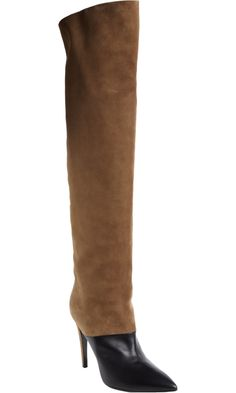 Colorblocked Combo Knee Boot, compliments of Pierre Hardy.