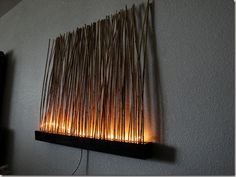 Lighted Bamboo Wall Art