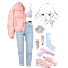 bby pink by decayy on Polyvore featuring Y-3, ODD FUTURE, Miss Selfridge, Reebok, philosophy, L'ÉCLAIREUR and Korres