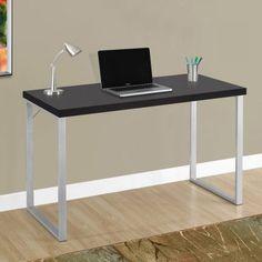 Monarch Specialties 47 in. Metal Computer Desk - Desks at Hayneedle