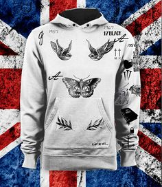 Harry Styles UPDATED Tattoo Hoodie This includes about 40 of Harry's tattoos- most recently the ferns in July 2014. Get yours now! only a few left in our shop!