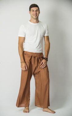 Unisex Thai Fisherman Pants in Mustard