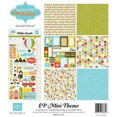 """Papírkészlet 12"""", Enjoy the Ride / Kollekció - Echo Park Mini Theme"""