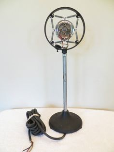 Vintage 1920s Old Shure Pre Depression Era Antique Radio Microphone with Stand   eBay