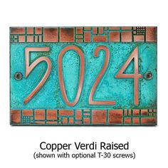 Batchelder Tile Craftsman Address Plaque Numbers