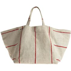 Vintage linen tote with canvas lining. The obvious beach accessory, can also double as a stylish way to store all your magazines. each design is unique and wil…