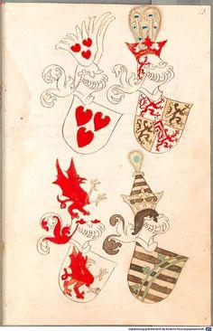 Bruderschaftsbuch des jülich-bergischen Hubertusordens Niederrhein, um 1500 Cod.icon. 318  Folio 13r