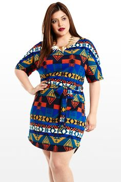 Etched In Stone Aztec Tunic *FASHION TO FIGURE*