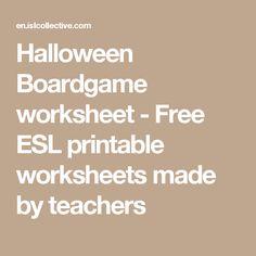 Halloween Boardgame worksheet - Free ESL printable worksheets made by teachers