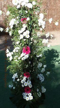 Columnas para la ceremonia boda V & A .