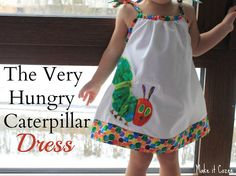 Make it Cozee: Simple Very Hungry Caterpillar Dress Tutorial