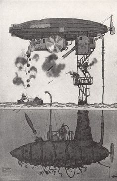 heath-robinson.-the-subzeppmarinellin.-first-world-war-vintage-print-1973-230014-p.jpg (388×600)