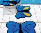 Jogo de banheiro borboleta - Frufru