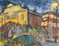 Norman Cornish - Arcadia Cinema, Spennymoor is available for sale at Castlegate House Gallery. Norman Cornish, Cinema, Paintings For Sale, Contemporary Art, Illustration Art, Artsy, Gallery, Drawings, Artwork