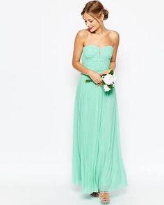 ASOS WEDDING - Maxi robe à top ...