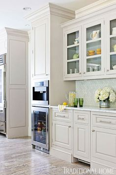 Organized, Efficient Kitchen with Cool and Classic Styling - Traditional Home®