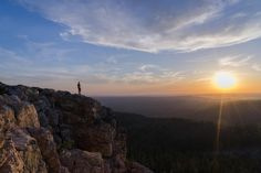 💬 Man Standing on Cliff Watching Sunrise - get this free picture at Avopix.com    🆕 https://avopix.com/photo/32735-man-standing-on-cliff-watching-sunrise    #canyon #valley #rock #landscape #mountain #avopix #free #photos #public #domain