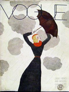 1933 Vogue Magazine, Georges Lepape Cover