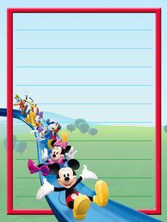 """Classics"": ""Mickey & Friends"", as courtesy of Walt Disney Mickey Mouse Images, Mickey Mouse Cartoon, Mickey Minnie Mouse, Disney Mickey, Walt Disney, Scrapbook Journal, Journal Cards, Disney Frames, Photo Frame Design"