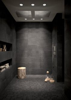 COCOON dark bathroom inspiration bycocoon.com | stainless steel bathroom taps | inox faucets | bathroom design products | modern bath tubs | renovations | interior design | villa design | hotel design | Dutch Designer Brand COCOON